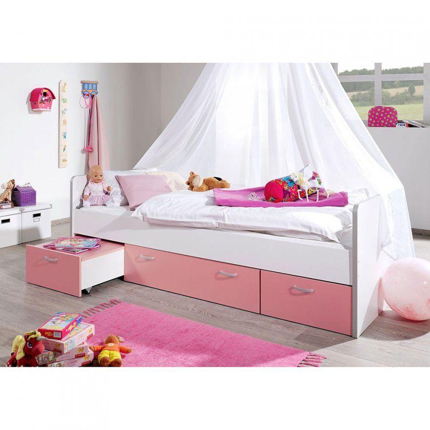 Mädchen Kinderbett Vestoma In Rosa Weiß  Pharao24 von Kinderbett Weiss Mit Schublade Bild