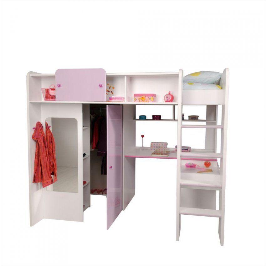 Mädchenzimmer Hochbett Jasmina In Weiß & Lia Phararao24 von Bett Mit Schreibtisch Und Schrank Bild