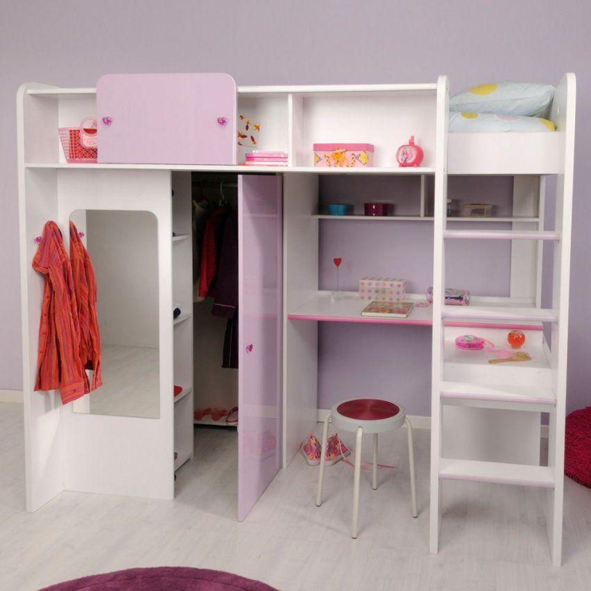 Mädchenzimmer Hochbett Jasmina In Weiß & Lia Phararao24 von Hochbett Mit Viel Stauraum Bild