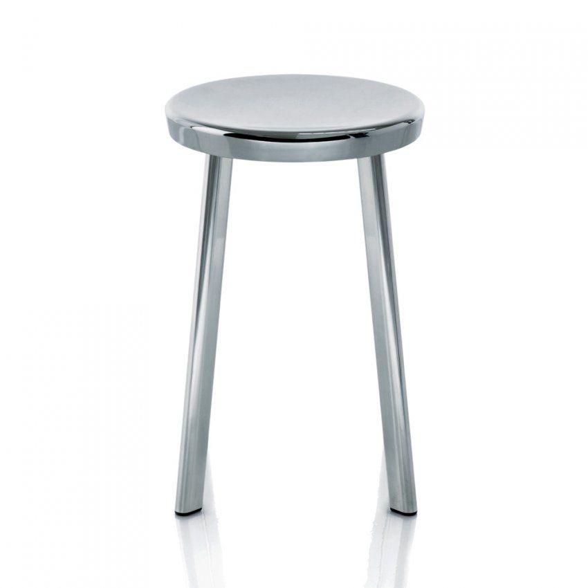 Magis Dejavu Stool Hocker Aluminium Höhe 50 Cm Naoto Fukasawa Poliert von Hocker Sitzhöhe 60 Cm Bild