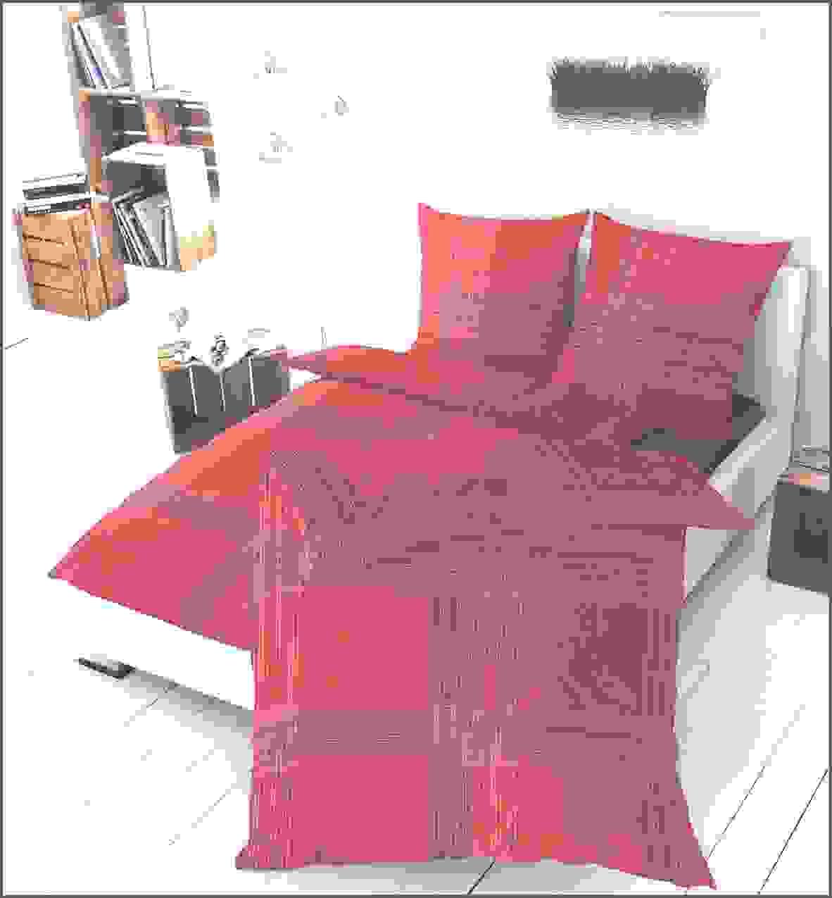 Mako Satin Bettwäsche Aus Baumwolle 135 X 200 80 X 80 Cm In Rot Von von Bierbaum Bettwäsche Mako Satin 135X200 Bild