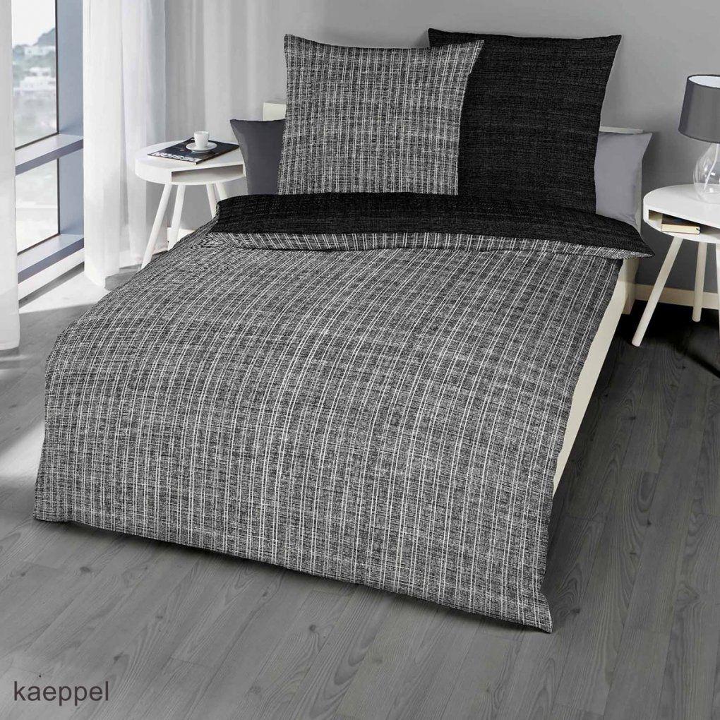 Mako Satin Bettwäsche Günstig Kaufen  Angebote Entdecken von Schwarz Weiß Gestreifte Bettwäsche Bild