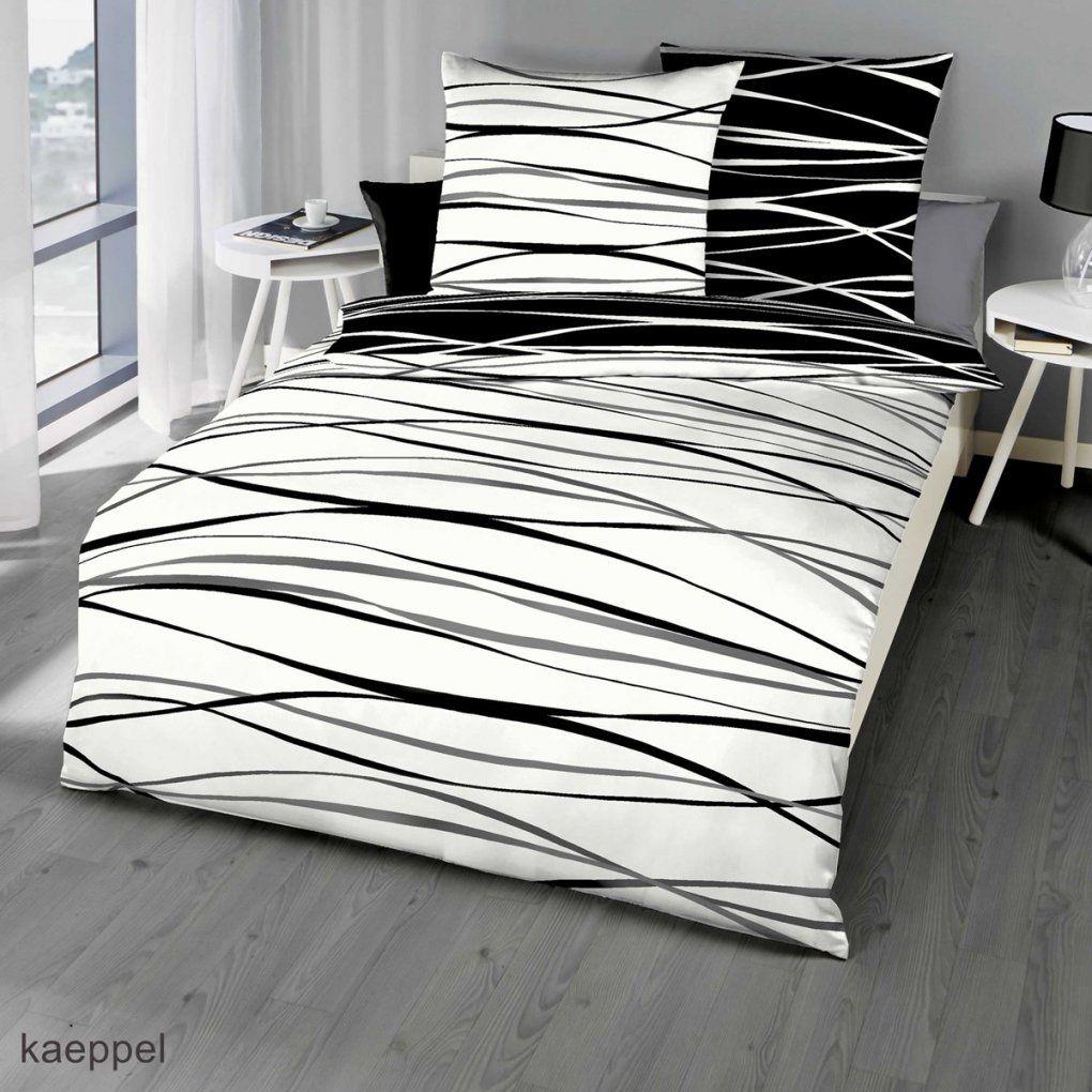 Mako Satin Bettwäsche Schwarz Mit Streifen Design Günstig Kaufen von Schwarz Weiß Gestreifte Bettwäsche Photo