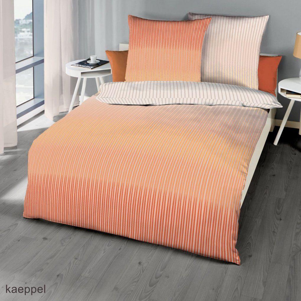 Mako Satin In Pfirsich Streifen Design Hier Günstig Kaufen von Satin Bettwäsche 155X220 Günstig Photo
