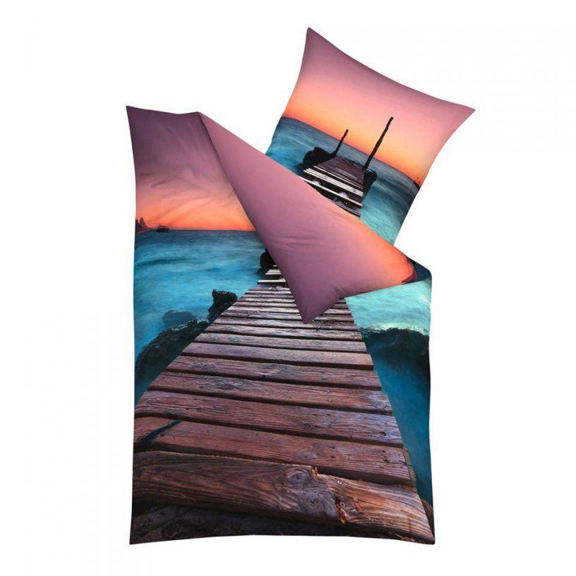 Makosatinbettwäsche Ibiza Aqua (140X200)  Dänisches Bettenlager von Bettwäsche Palmen Motiv Photo
