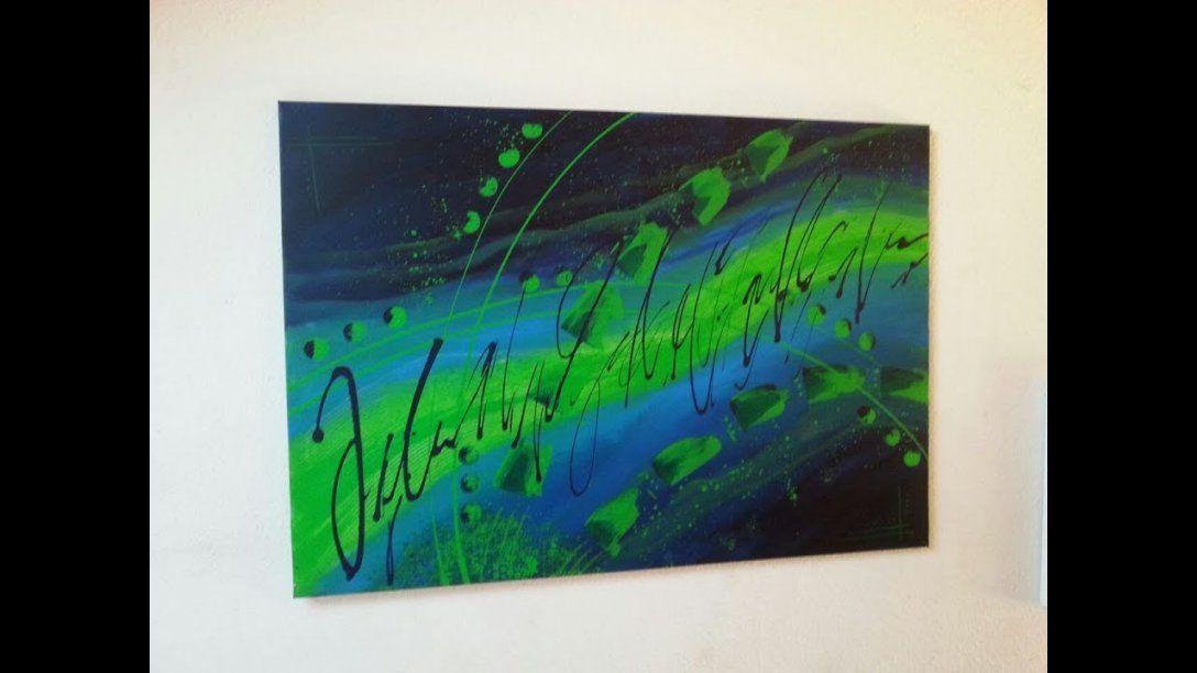 Malen Mit Acrylfarben  Für Anfänger  Abstrakt  Easy Painting von Abstrakt Malen Für Anfänger Photo