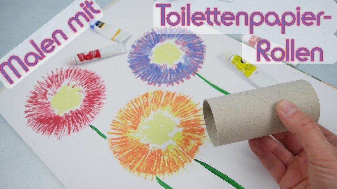 Malen Mit Toilettenpapierrollen I Maltechnik  Youtube von Acrylbilder Selber Malen Ideen Bild