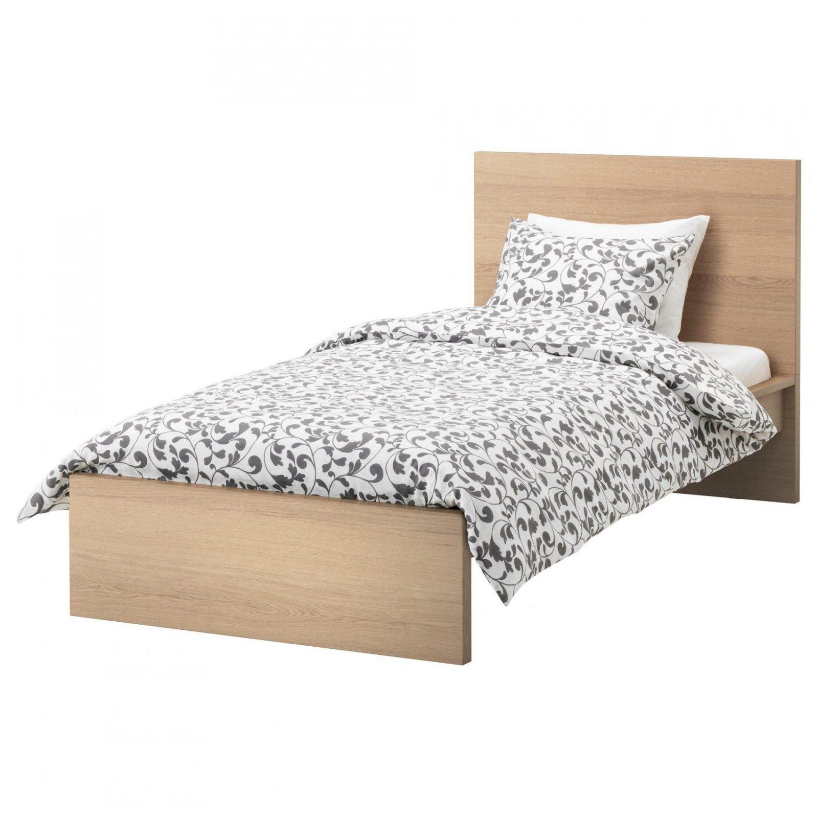Malm Bedonderstel Hoog  Wit  Ikea von Ikea Malm Bett 100X200 Bild