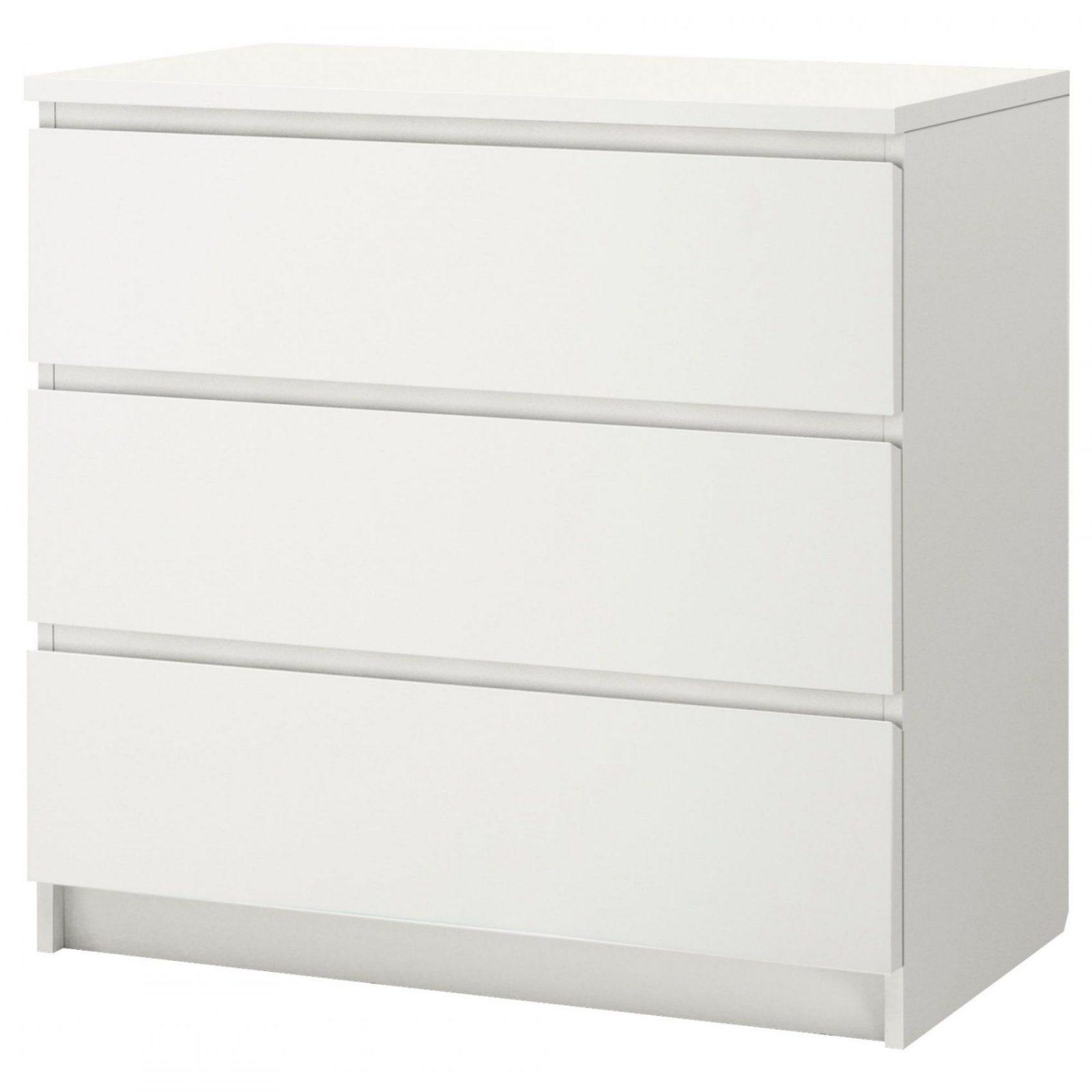 Malm Kommode Mit 3 Schubladen  Weiß  Ikea von Malm Kommode Birke 3 Schubladen Bild