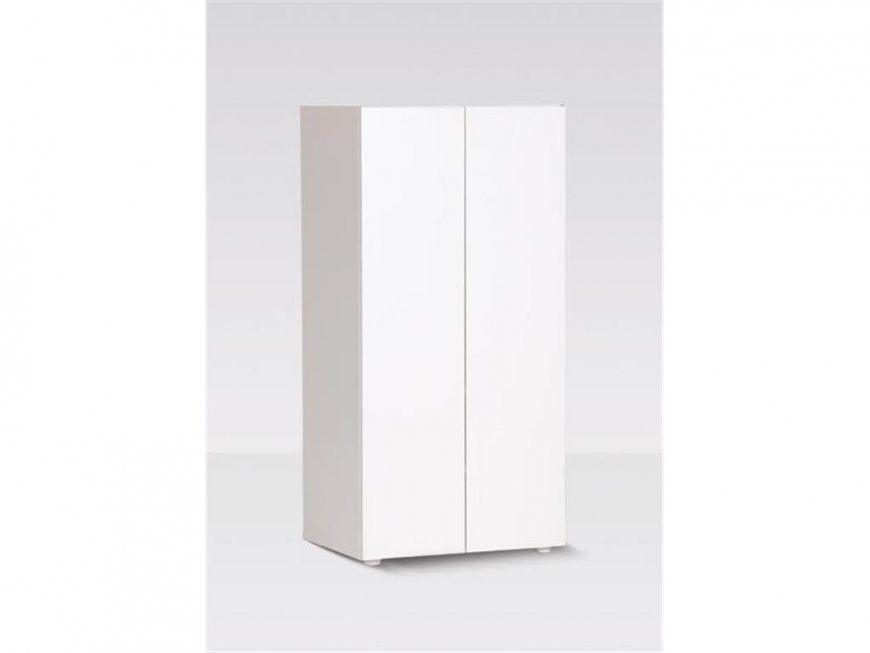 Manish Kleiderschrank Weiß Mit 2 Türen Höhe 140Cm  123Moebel von Kleiderschrank 140 Cm Breit Photo
