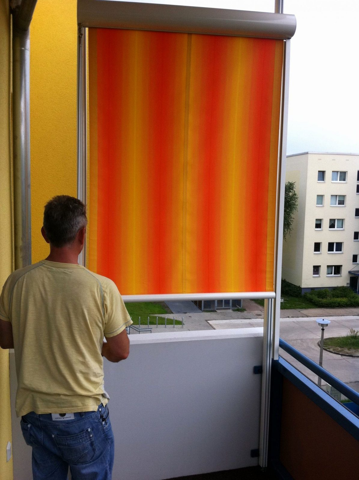 Markisen Ohne Bohren Neu Markise Fr Balkon Ohne Bohren Balkon von Balkon Seitensichtschutz Ohne Bohren Bild