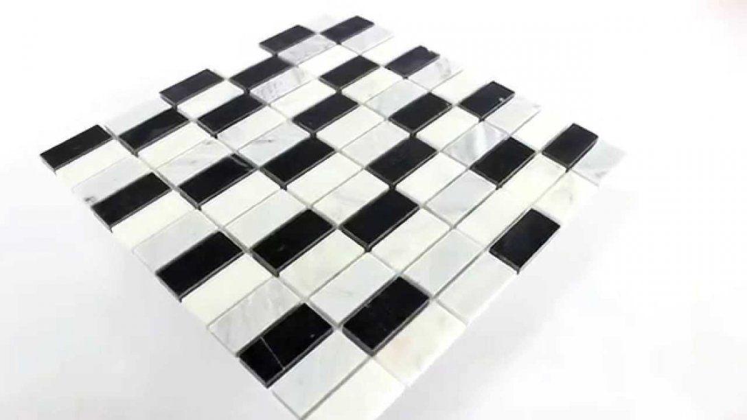 Marmor Mosaik Fliesen Schwarz Weiss Mix  Youtube von Mosaik Fliesen Schwarz Weiß Grau Bild
