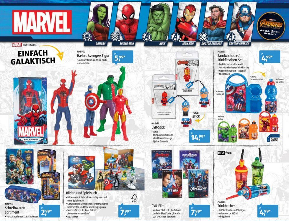 Marvel Bei Aldi – Discounter Bringt Avengersprodukte Zum Filmstart von Spiderman Bettwäsche Aldi Photo