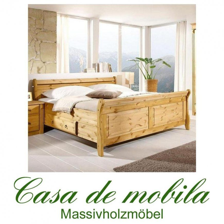 Massivholz Bett 140X200 Dora  Kiefer Massiv Gebeiztgeölt von Doppelbett Kiefer Massiv 180X200 Bild