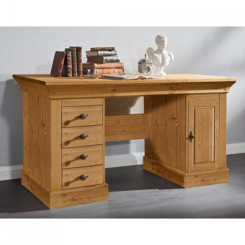 Massivholz Schreibtisch Piatra Aus Kiefer Gelaugt Wohnen von Sekretär Kiefer Gelaugt Geölt Bild