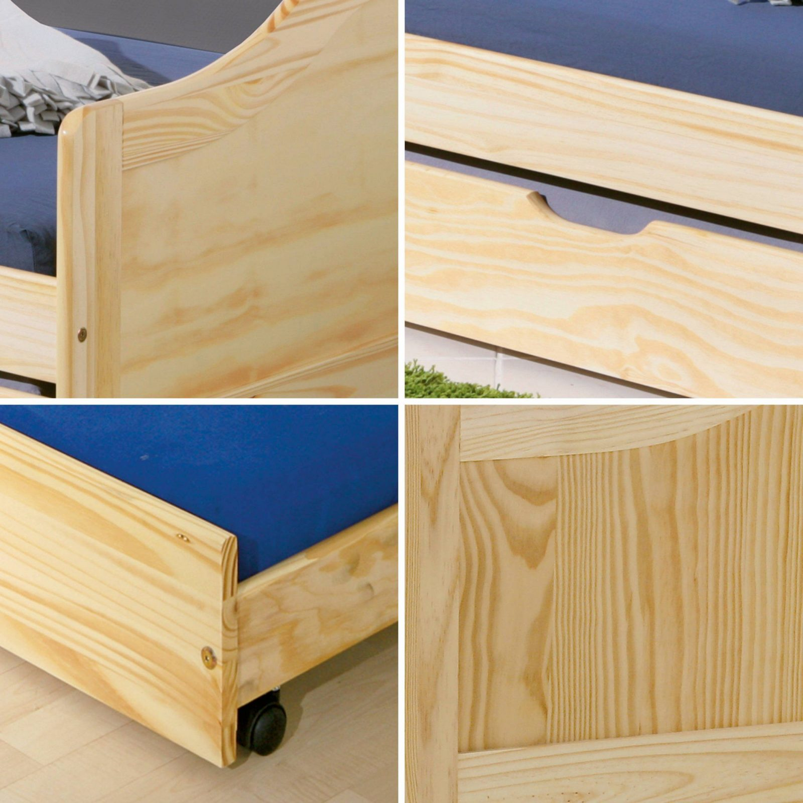 Massivholzbett 90X200 Cm Kinderbett Bett Funktionsbett Kojenbett von Kojenbett Kiefer Massiv 90X200 Photo