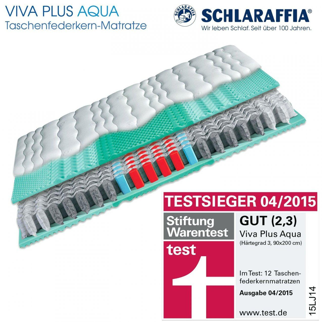 Matratzen 90×200 Schlaraffia Viva Plus Aqua Taschenfederkern von Schlaraffia Ultra Fresh Test Photo