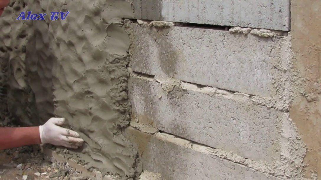 Mauer Aus Beton In Steinoptik Selber Machen   Youtube von Steinoptik Wand Selber Machen Photo
