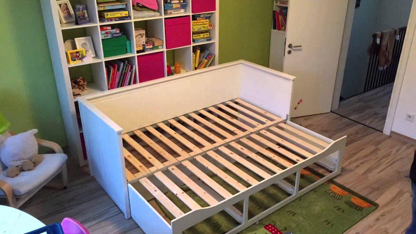 Maya's Neues Ikea Hemnes Bett  Youtube von Ikea Hemnes Bett Ausziehbar Bild