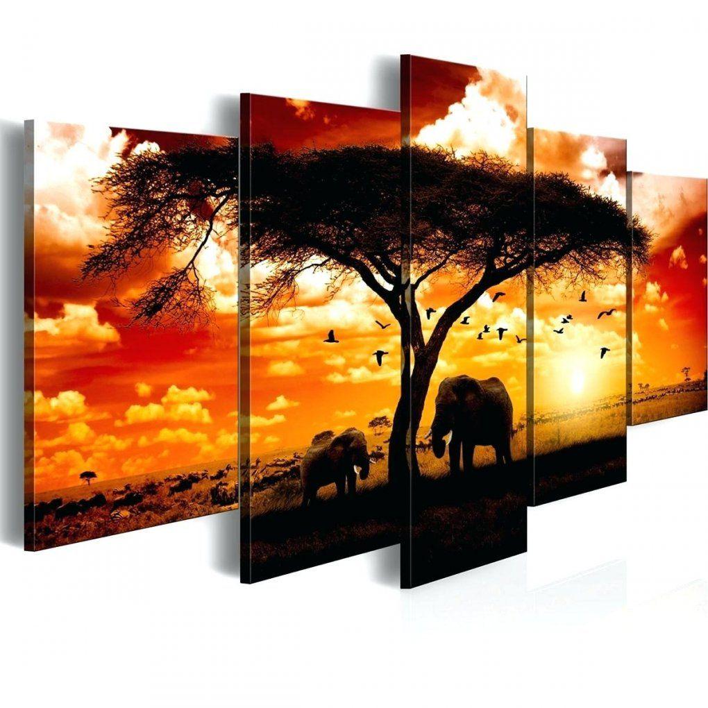 Mehrteilige Leinwandbilder Leinwandbild Afrika Sonnenuntergang von Leinwandbilder Mehrteilig Selbst Gestalten Bild