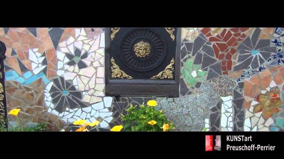 Mein Schöner Dachgarten  Mosaik  Kunst V Ia Preuschoffperrier von Mosaik Im Garten Selber Machen Photo