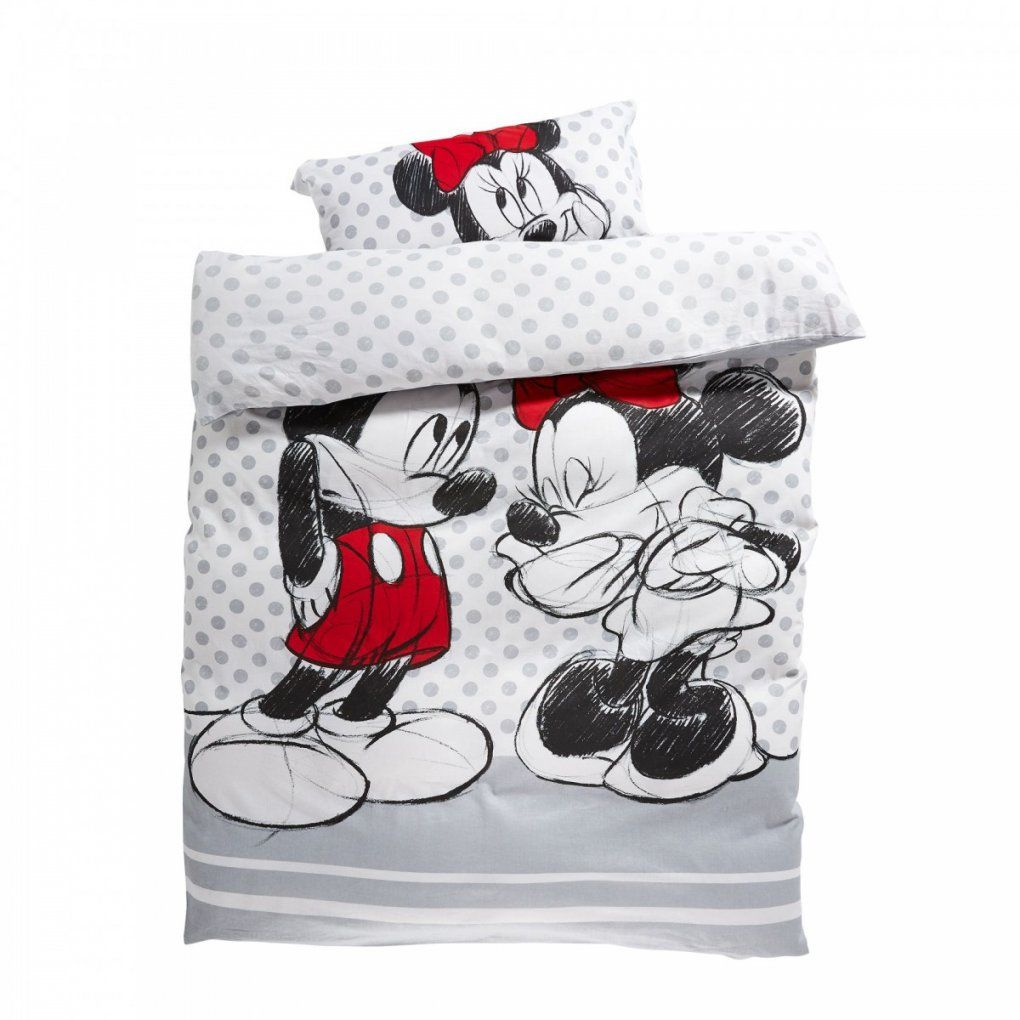 Mickey Maus Bettwäsche  Kinderbettwäsche Minnie & Mickey 135X200 Cm von Mickey Mouse Bettwäsche 200X200 Bild
