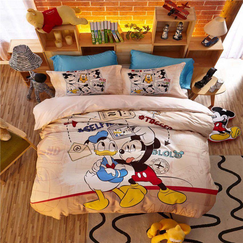 Mickey Maus Donald Duck 3D Bettwäsche Sets Jungen Bettdecken von Donald Duck Bettwäsche Bild