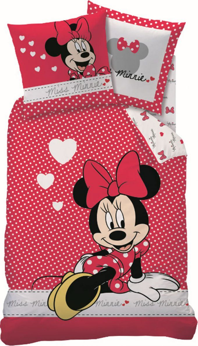 Mickey Mouse Bettwaesche Komplettset  Dibinekadar Decoration von Minnie Mouse Bettwäsche 100X135 Photo