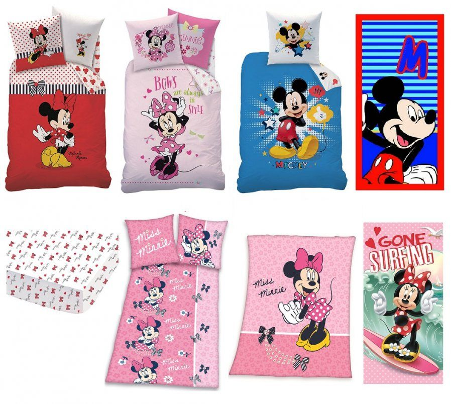 Mickey Mouse Bettwaesche Set  Dibinekadar Decoration von Kinderbettwäsche Minnie Mouse Bild