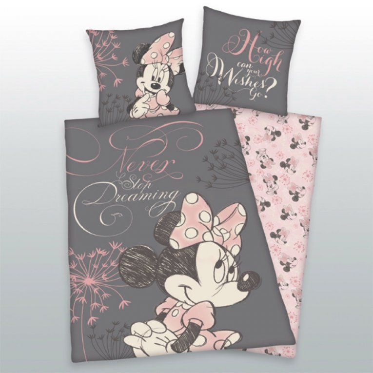 Mickey Mouse Kinderzimmer Bettwaesche Sets  Dibinekadar Decoration von Minnie Maus Bettwäsche 100X135 Photo