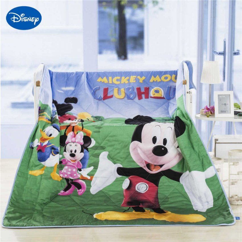 Mickey Mouse Krippe Bettwaesche Set Fuer Baby  Dibinekadar Decoration von Baby Bettwäsche Mickey Mouse Bild