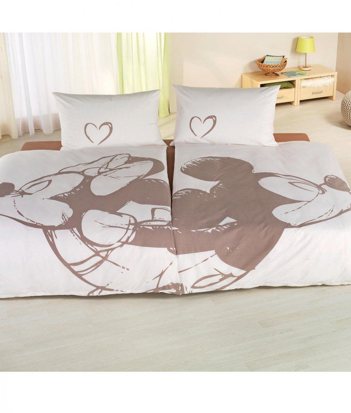 Mickey Mouse Partnerbettwäsche Im 2Erset Kaufen  Angela Bruderer von Mickey Mouse Bettwäsche 200X200 Bild