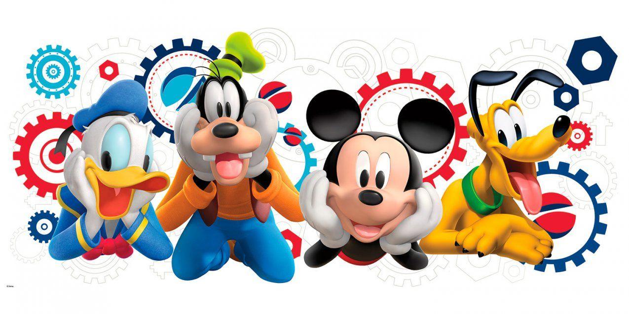 Micky Und Freunde  Micky Maus Wunderhaus von Wandtattoo Micky Maus Wunderhaus Bild
