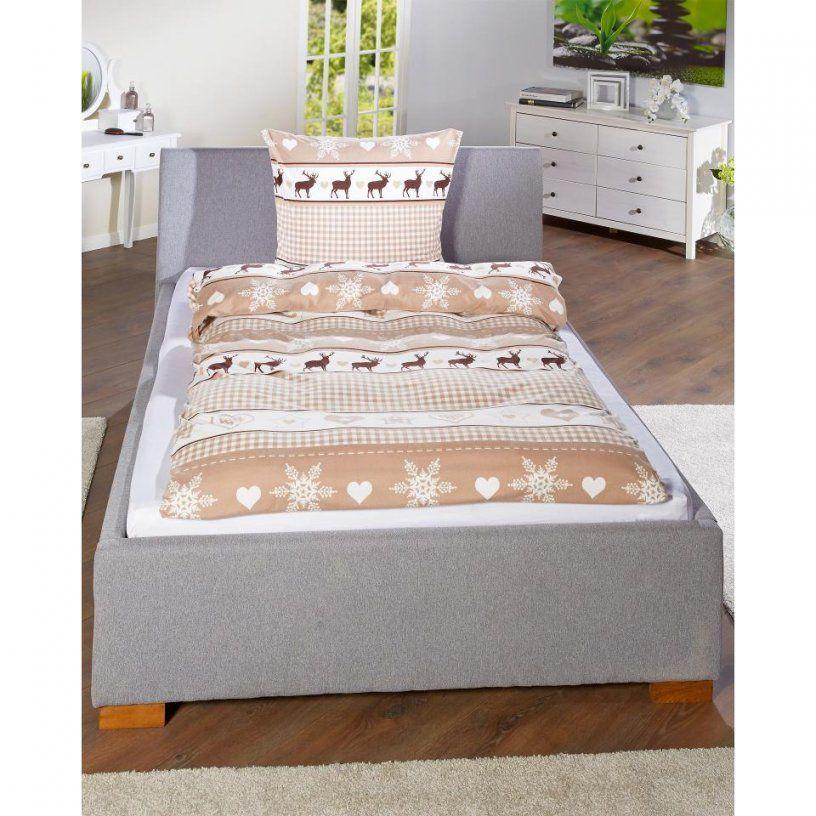 Microbiberbettwäsche Elch Und Herz (140X200)  Dänisches Bettenlager von Biber Bettwäsche Elch Photo