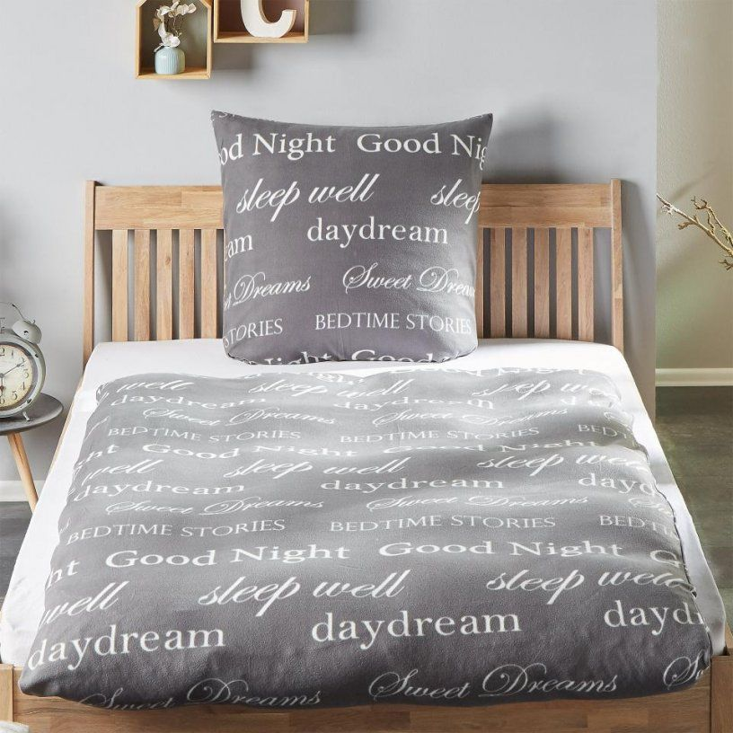Microfleecebettwäsche Good Night (135X200 Grau)  Dänisches von Bettwäsche Dänisches Bettenlager Photo