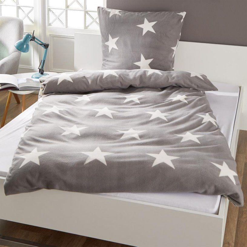 microfleecebettw sche stern 135x200 anthrazit d nisches von bettw sche d nisches bettenlager. Black Bedroom Furniture Sets. Home Design Ideas