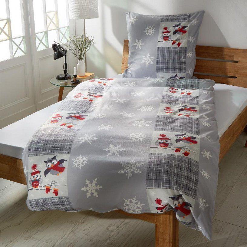Microfleecebettwäsche Wintereulen (135X200)  Dänisches Bettenlager von Eulen Bettwäsche Dänisches Bettenlager Bild