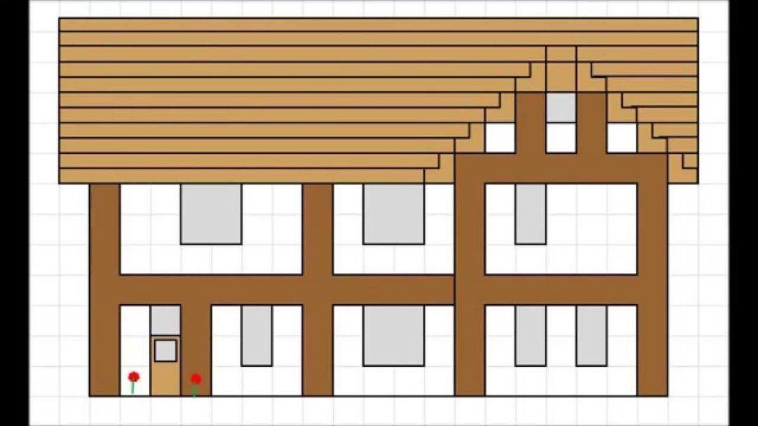 Minecraft Fachwerkhaus Bauplan Hd  Youtube von Minecraft Haus Bauen Plan Photo