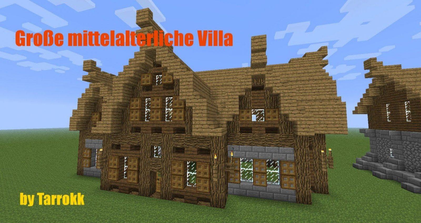 Minecraft  Große Mittelalterliche Villa [Tutorial]  Youtube von Minecraft Mittelalter Haus Bauplan Photo