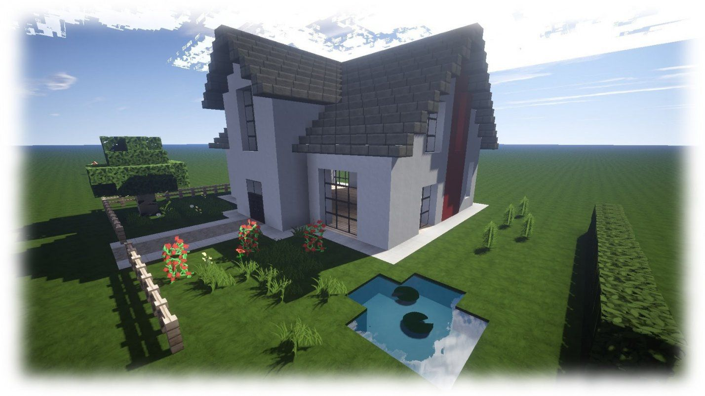 Minecraft Haus Tutorial  Einfamilienhaus [Neu Download]  Youtube von Minecraft Modernes Haus Download Bild