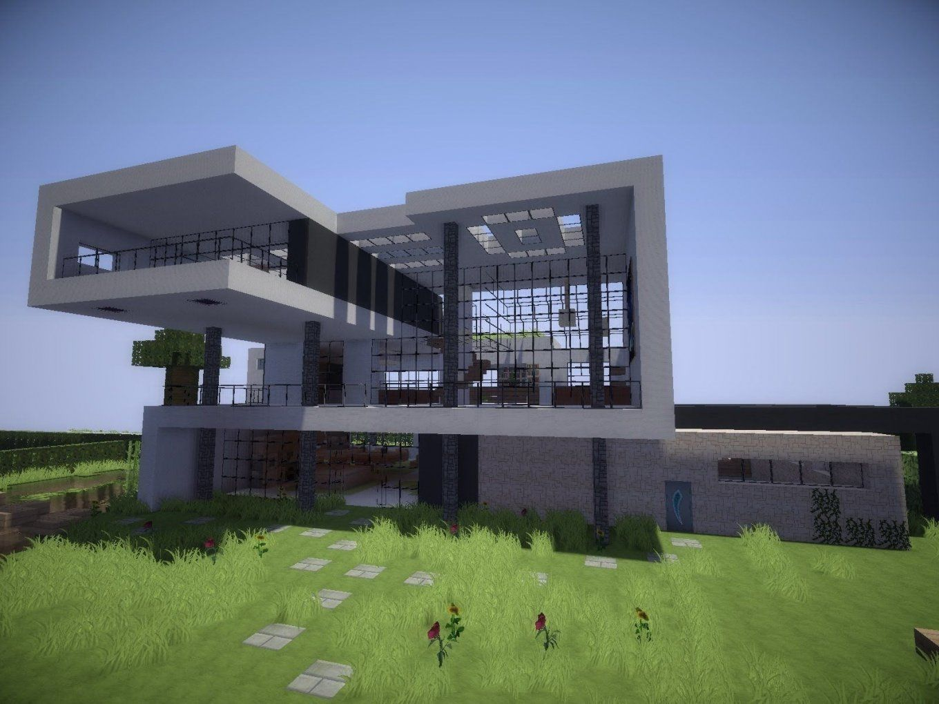 Minecraft Häuser  Minecraft  Pinterest  Minecraft Ideas Villa von Minecraft Villa Modern Bauplan Photo