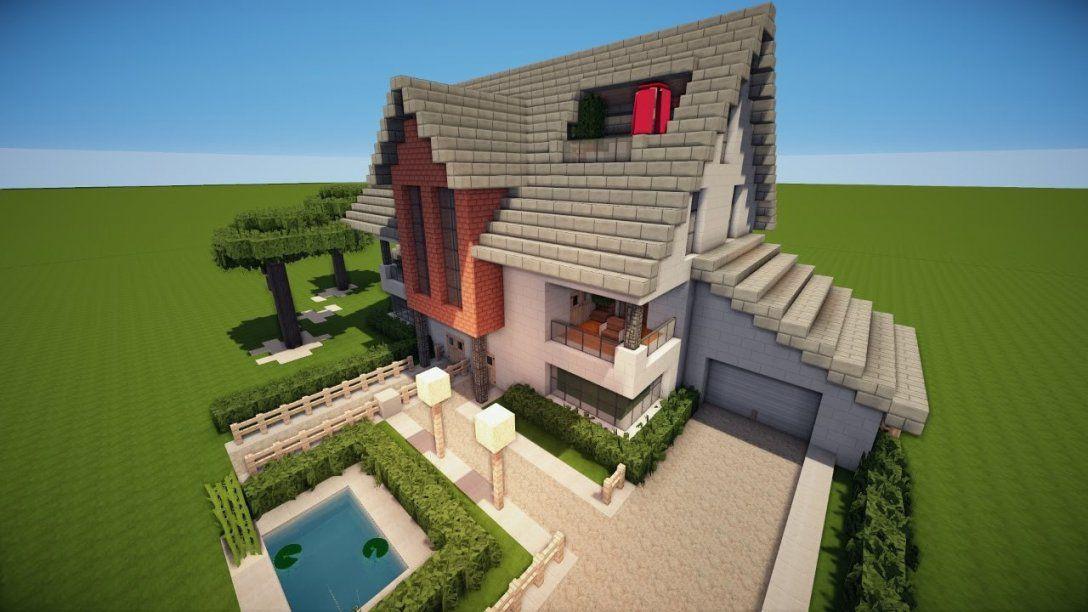 Minecraft Häuser Nachbauen Mit Minecraft Modernes Zwei Familien Avec von Minecraft Schönes Haus Bauen Photo
