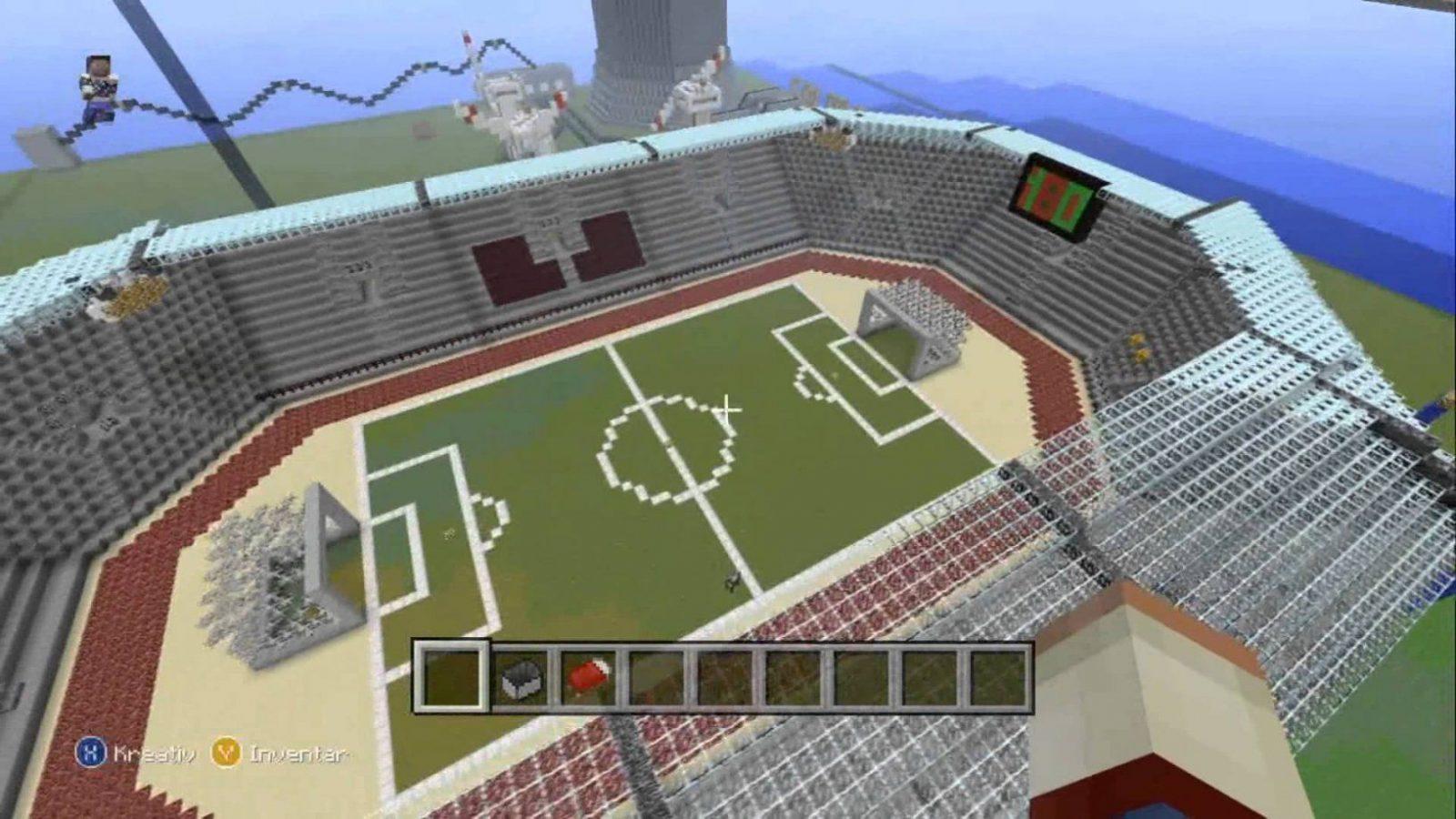 Minecraft Let´s Show Xbox360 Bauwerke (Stadion Atomkraftwerk von Minecraft Baupläne Zum Nachbauen Bild