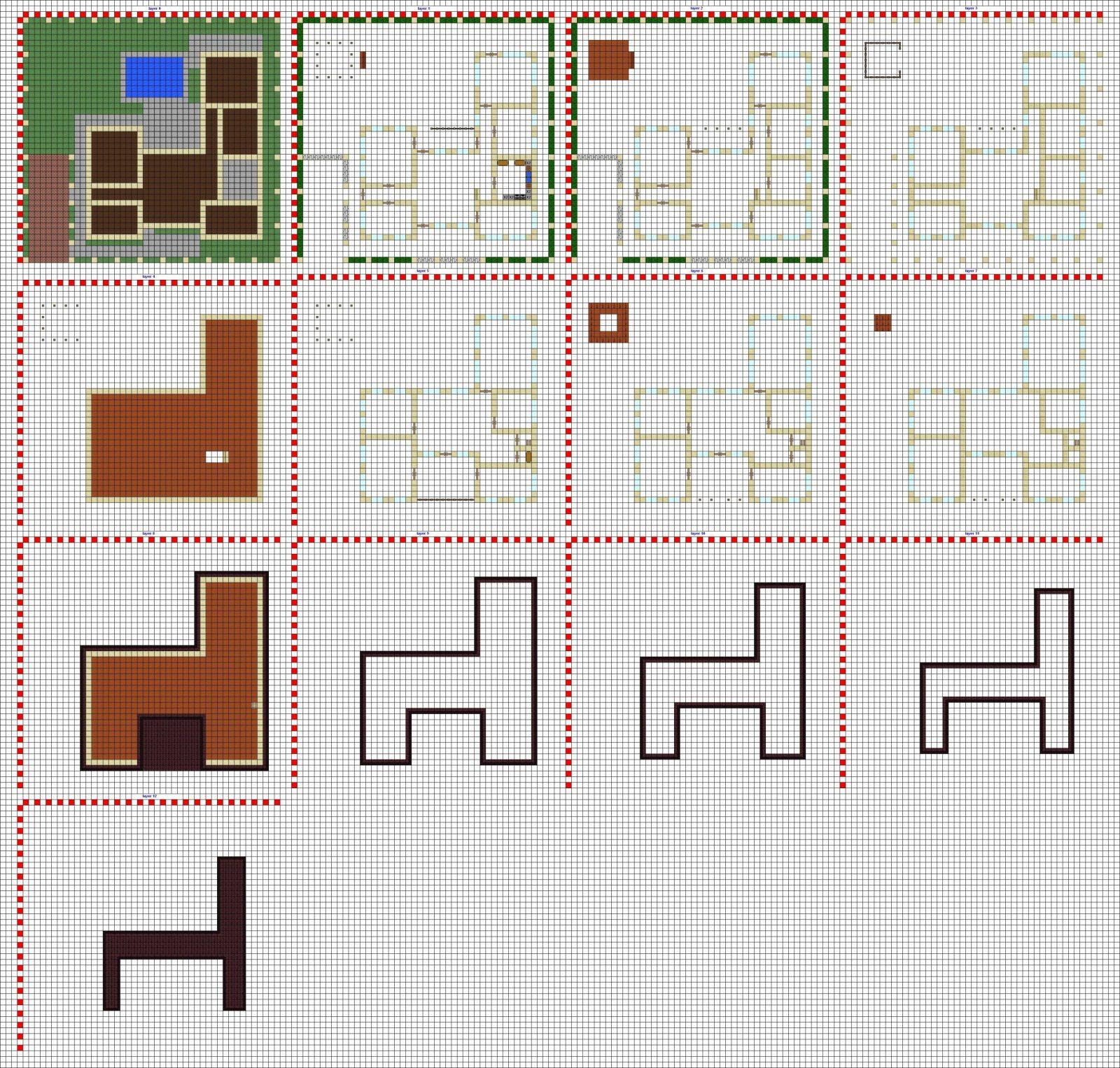 Minecraft Modern House Blueprints Layerlayer  Google Search von Minecraft Modern Mansion Blueprints Bild