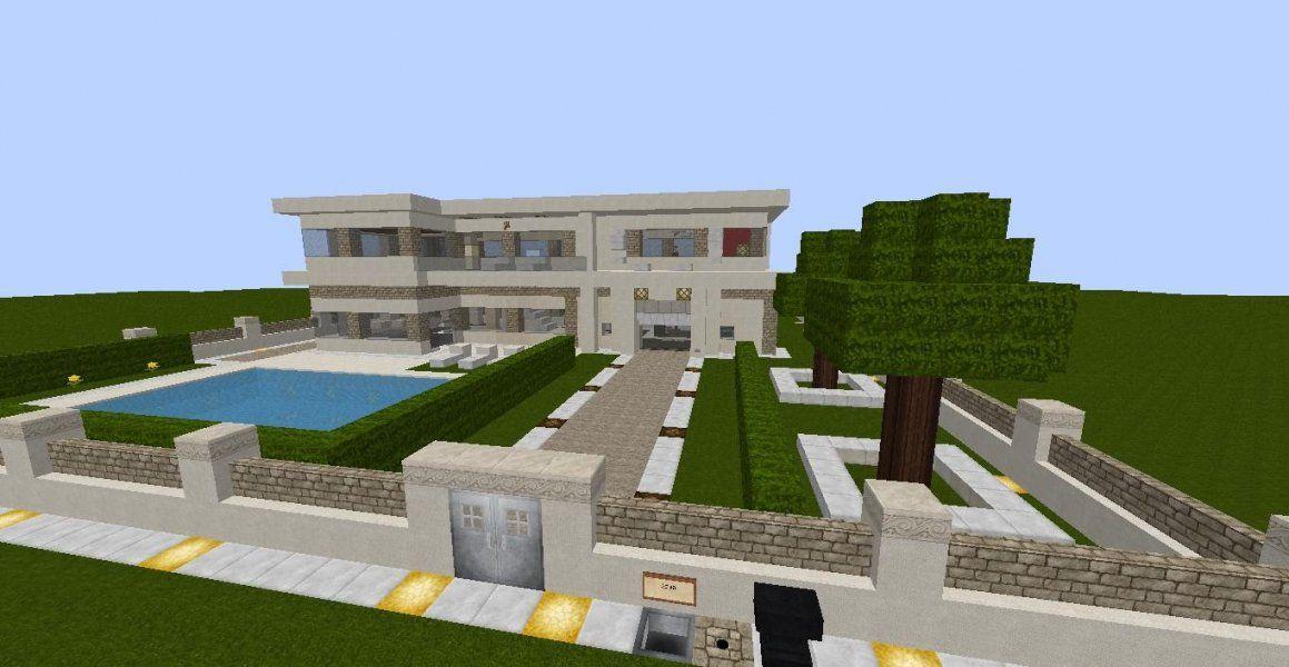 Minecraft Moderne Luxus Villa Mit Moderner Einrichtung Und Viel von Minecraft Modernes Haus Download Photo
