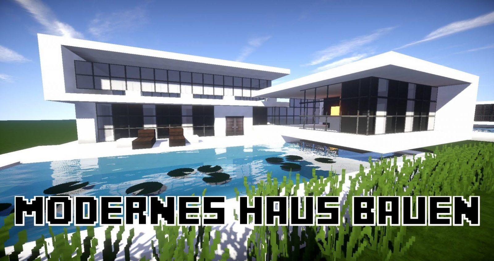 Minecraft Modernes Haus Bauen 23X20  Tutorialanleitung 17 2016 von Minecraft Haus Bauen Plan Bild