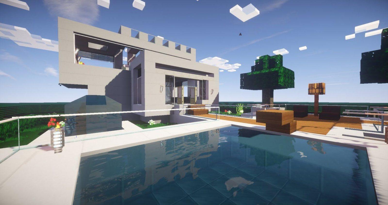 Minecraft Modernes Haus Mit Pool Selbst Gebaut 1 2015 [Download von Minecraft Modernes Haus Download Photo