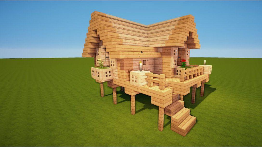 Minecraft Starter Haus Bauen Tutorial [Haus 53]  Youtube von Minecraft Haus Bauplan Erstellen Bild