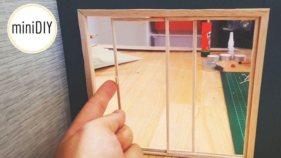 Miniatur Terrassentür Basteln Für Puppenhaus  Minidiy  Barbie von Möbel Türen Selber Bauen Bild