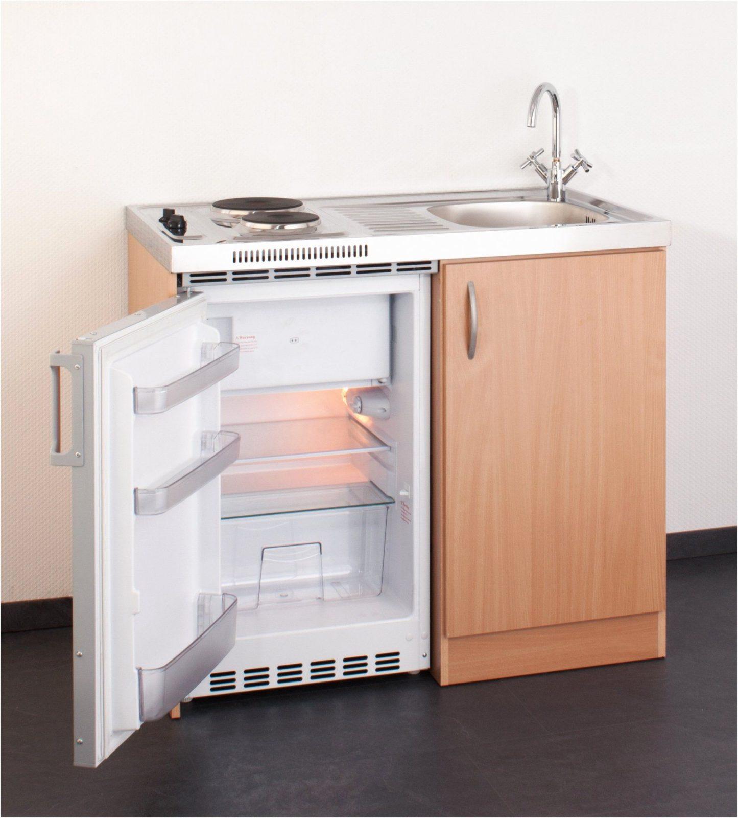 Miniküche Mit Kühlschrank Einzigartig Miniküche 100 Cm In Buche Mit von Pantryküche 100 Cm Mit Kühlschrank Photo